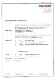 Angebot Premium Designcarport