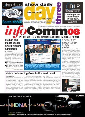 day three - InfoComm