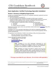 CTS Exam Sample Questions - InfoComm