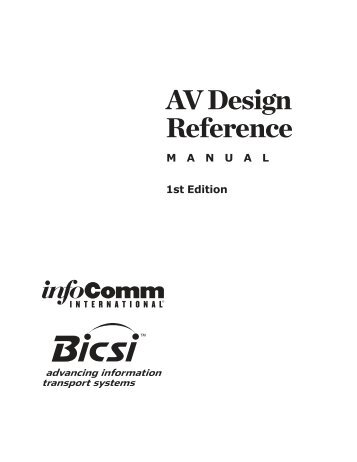AV Design Reference - InfoComm