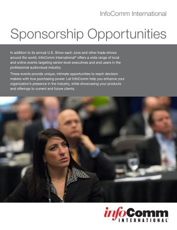 Download Sponsorship Brochure - InfoComm