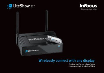 Datasheet for InFocus LiteShow III Wireless Adapter