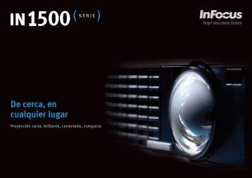 InFocus IN1500 Series Datasheet (Spanish)