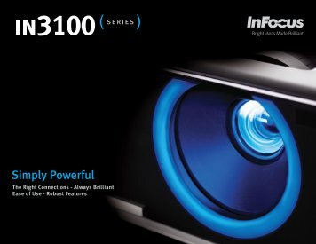 InFocus IN3100 Series Datasheet