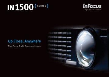 InFocus IN1500 Series Datasheet