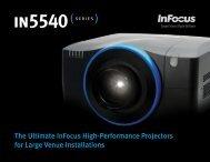 InFocus IN5540 Series Datasheet