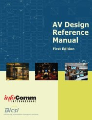 AV Design Reference Manual - InfoComm