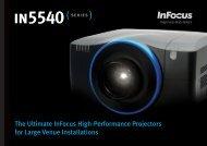 InFocus IN5540 Series Datasheet (Intl English)