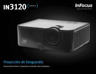 InFocus IN3120 Series Datasheet (Latin Spanish)