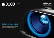 InFocus IN3100 Series Datasheet (German)