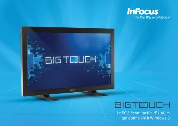 InFocus BigTouch Datasheet (French)