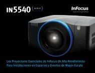 InFocus IN5540 Series Datasheet (Latin Spanish)