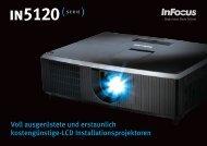 InFocus IN5120 Series Datasheet DE