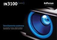 InFocus IN3100 Series Datasheet (Spanish)