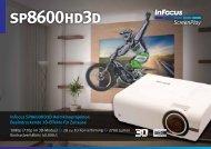 InFocus SP8600HD3D Datasheet DE