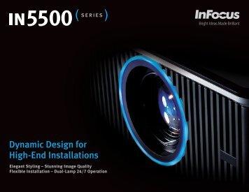 InFocus IN5500 Series Datasheet