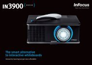 Datasheet for the InFocus IN3914 and IN3916 Interactive Projectors