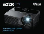 InFocus IN2120 Series Datasheet (Latin Spanish)