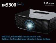 InFocus IN5300 Series Datasheet (Latin Spanish)