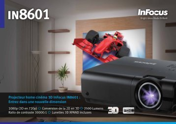 InFocus IN8601 Datasheet (French)