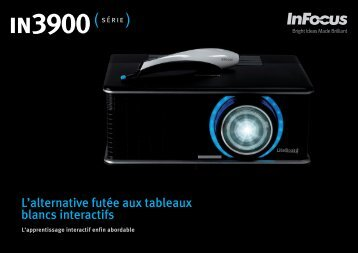 InFocus IN3900 Series Interactive Projector Datasheet (French)