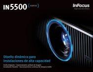 InFocus IN5500 Series Datasheet (Latin Spanish)