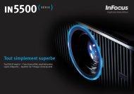 InFocus IN5500 Series Datasheet (French)