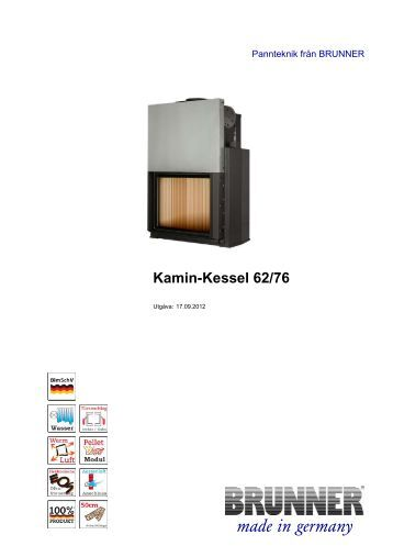 Kamin-Kessel 62/76 made in germany - Brunner