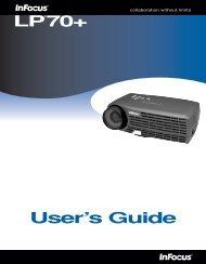 LP®70+ User's Guide - InFocus