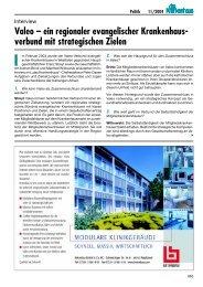 Valeo – ein regionaler evangelischer Krankenhaus- verbund mit ...