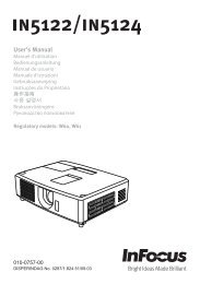 User's Manual - InFocus