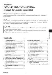 IN5542/IN5542c/IN5544/IN5544c Manual do Usuário ... - InFocus
