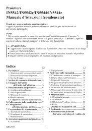 IN5542/IN5542c/IN5544/IN5544c Manuale d'istruzioni ... - InFocus