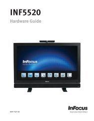 Mondopad(INF5520) Hardware Guide - InFocus