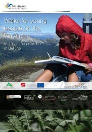 Walks for young people on the Via Alpina