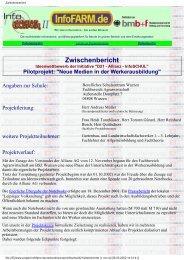 Zwischenbericht Berufliches Schulzentrum Wurzen - InfoFarm