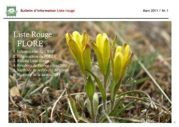 Bulletin d'information numéro 1 - Info Flora