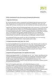 Position des BVI zum Arbeitsentwurf für eine Rechtsverordnung zur ...