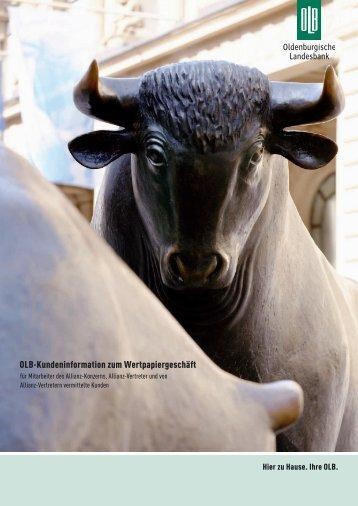 OLB-Kundeninformation zum Wertpapiergeschäft - Oldenburgische ...