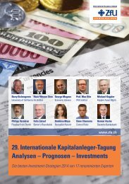 29. Internationale Kapitalanleger-Tagung Analysen - ZfU ...