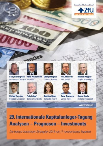 29. Internationale Kapitalanleger-Tagung Analysen - ZfU ...