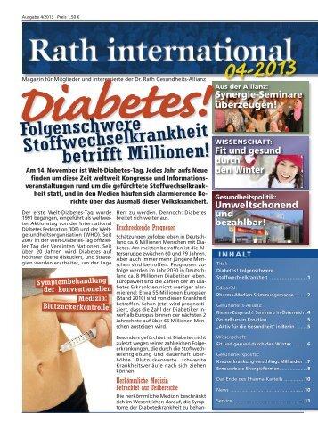 Aktuelle Ausgabe 4/2013 ansehen - Dr. Rath Gesundheits-Allianz