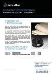 SCHEUERMITTELGEWEBE - Carl von Gehlen Gmbh & Co. KG