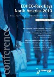 EDHEC-Risk Days North America 2013 8-9