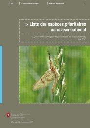 Liste des espèces prioritaires au niveau national - Info Flora