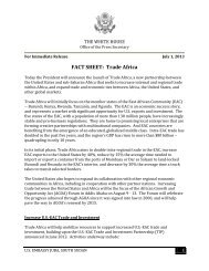 FACT SHEET: Trade Africa