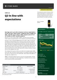 EnBW AG - Q2 in line with expectations - Jyske Bank