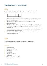 Übungsaufgaben Investmentfonds - Börse Stuttgart