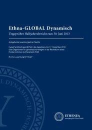 Halbjahresbericht - Ethna Funds