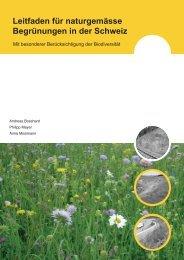 Leitfaden für naturgemässe Begrünungen in der Schweiz - Info Flora